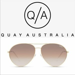 Quay Just Sayin' Gold Brown Sunglasses BNWT